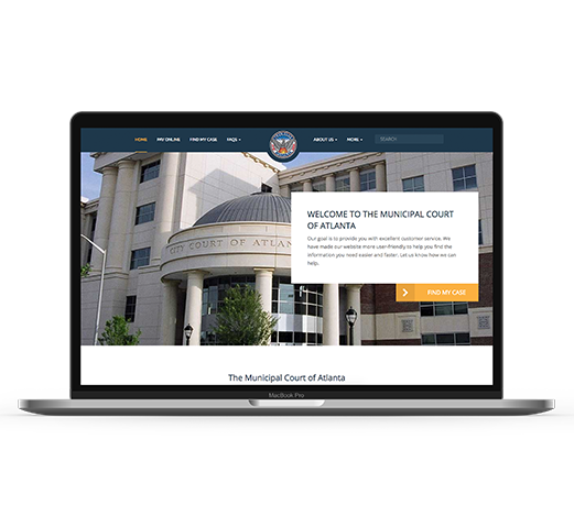 Atlanta court website design
